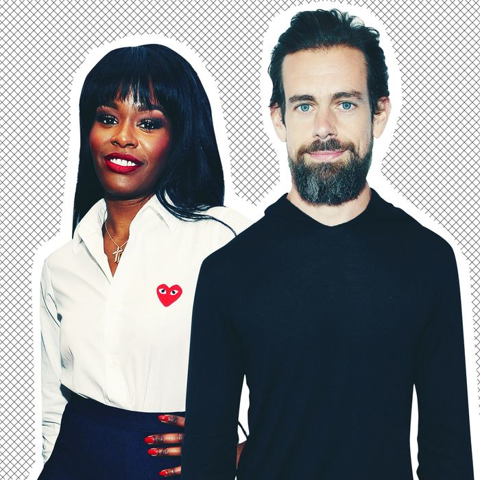 Azealia Banks and Jack Dorsey.