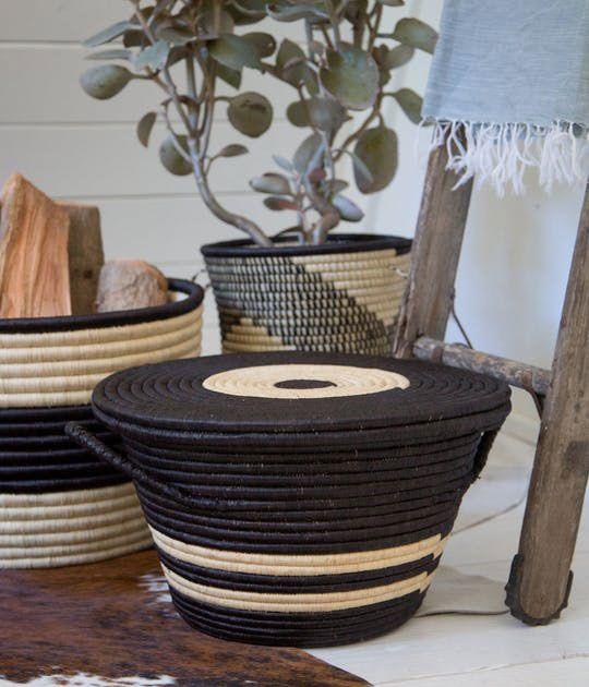 Rose & Fitzgerald Palm Bullseye Basket