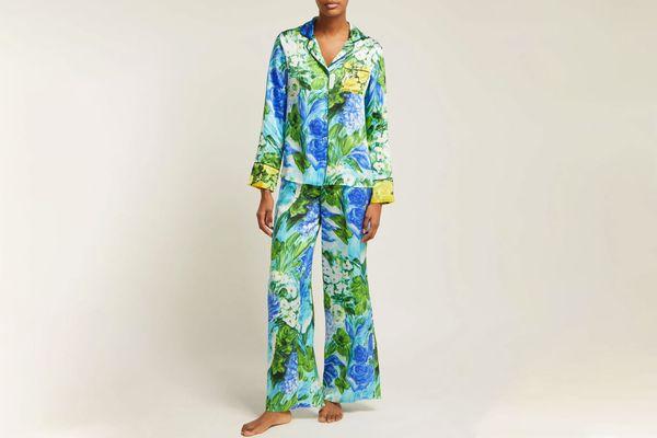 Richard Quinn Watercolor-print Pajamas