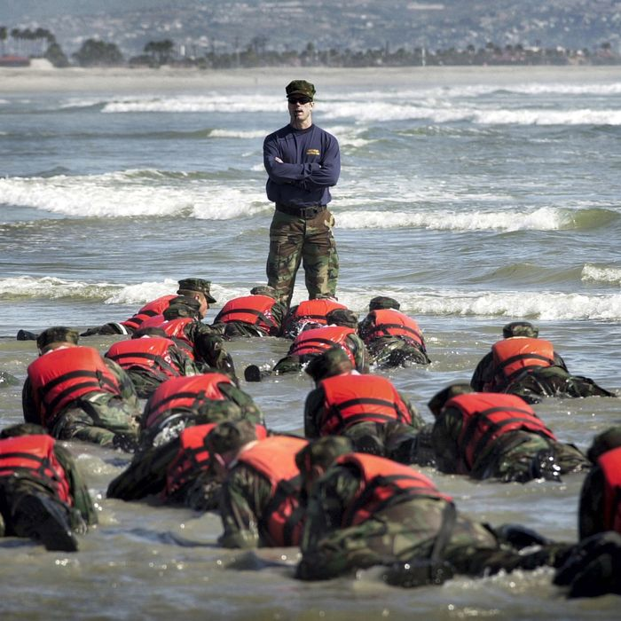 A Navy SEAL training course on April 15, 2003 in Coronado, California.