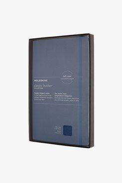 Moleskine Classic Leather Notebook (Forget-Me-Not Blue), Large