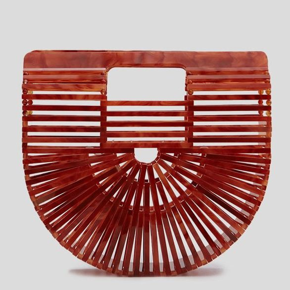 cult gaia acrylic ark mini agate - strategist best acrylic tote in red