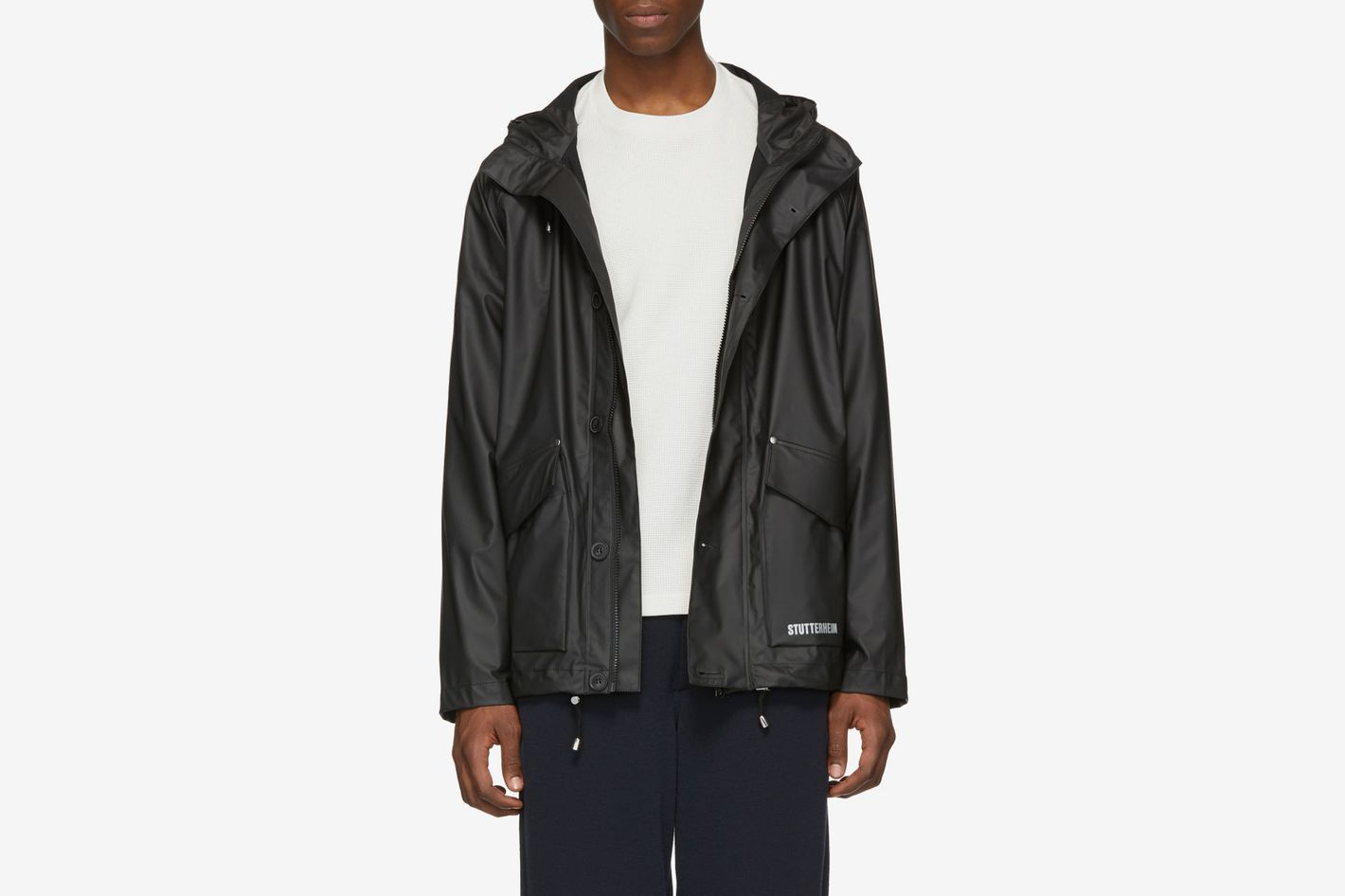 Stutterheim Black Stenhamra Lightweight Raincoat