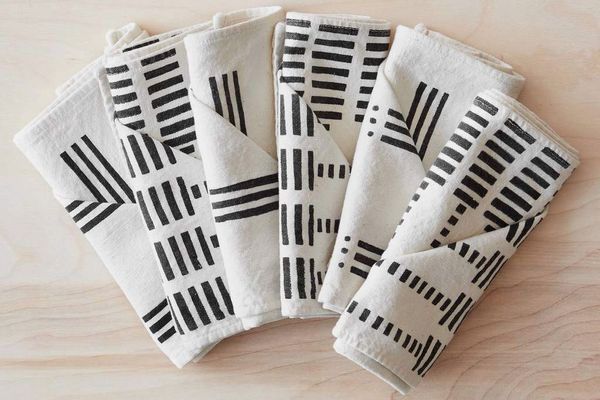 Echelle Mudcloth Napkins, Set of 6