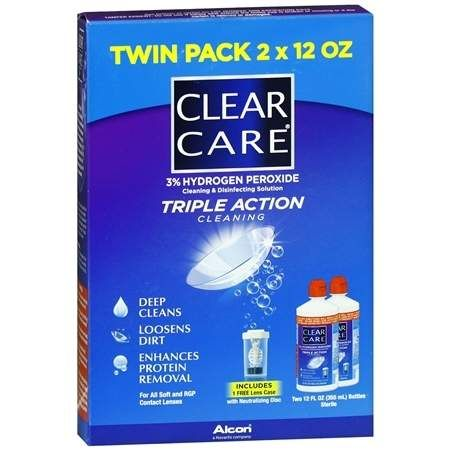 Clear Care Contact Lens Solution (2-Pack)