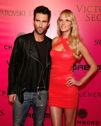 Undie buddies Adam Levine and Anne Vyalitsina.