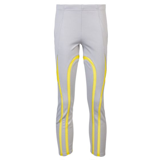 "Gray cropped athletic leggings, <a href=""http://www.lyst.com/clothing/junya-watanabe-cropped-athletic-leggings-grey/"">$679</a>."