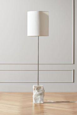 CB2 Raw Marble Floor Lamp