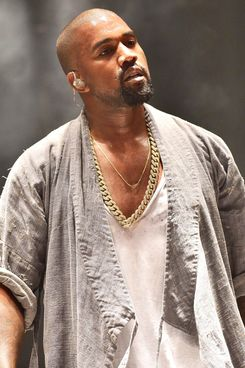 Kanye and a V-neck, in happier days.