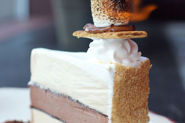Toasted marshmallow, chocolate, graham cracker.