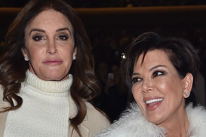 Kris Jenner enviously eyeing Caitlyn's outfit.