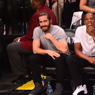 NEW YORK, NY - MAY 10: Jake Gyllenhaal attends the Miami Heat vs Brooklyn Nets playoff game at Barclays Center on May 10, 2014 in the Brooklyn borough of New York City. (Photo by James Devaney/GC Images)