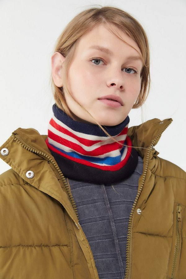 Striped Neck Gaiter Scarf