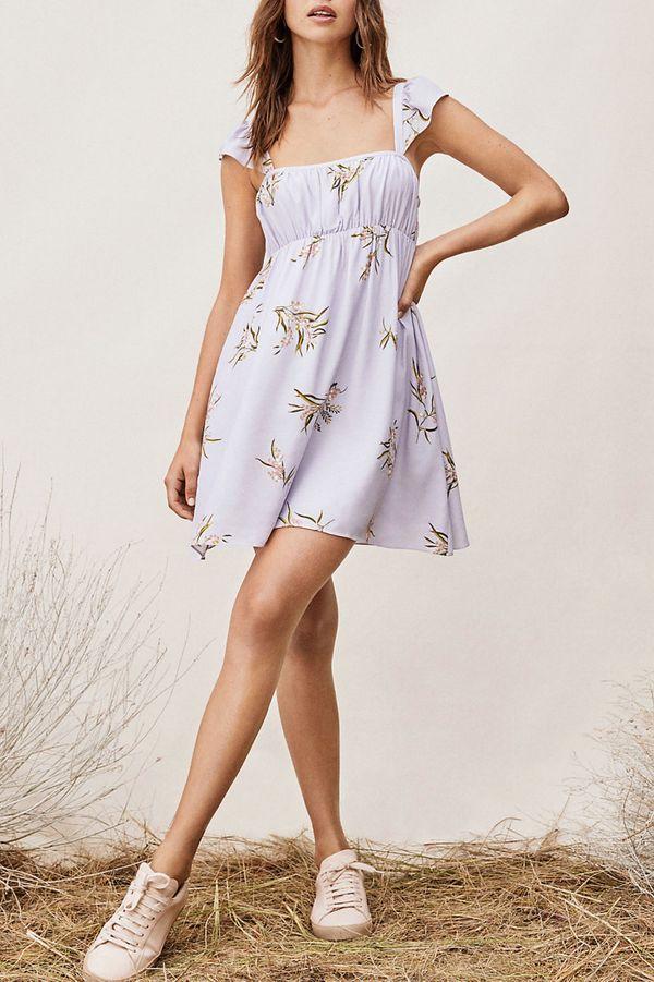 Tulip Ruffled Chiffon Mini Dress