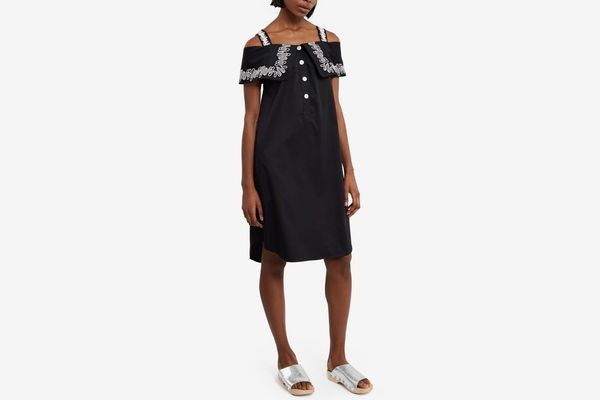 Opening Ceremony Embroidered French Cuff Dress