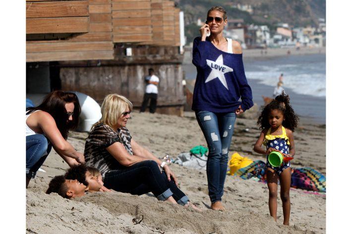 Heidi Klum <em>et famille.</em>