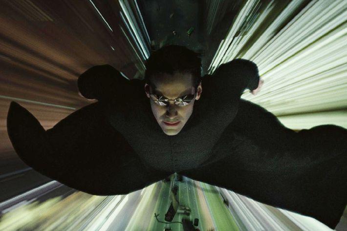 Keanu Reeves in <i>The Matrix</i>.