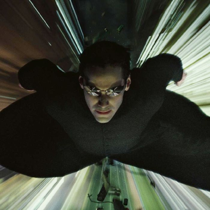 Keanu Reeves in <i>The Matrix</i>.