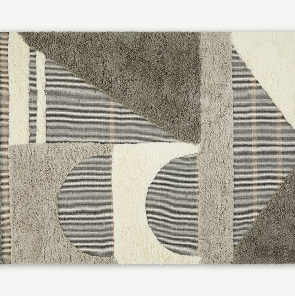 Lawton Wool Blend Rug, Large 160 x 230cm, Blue Grey