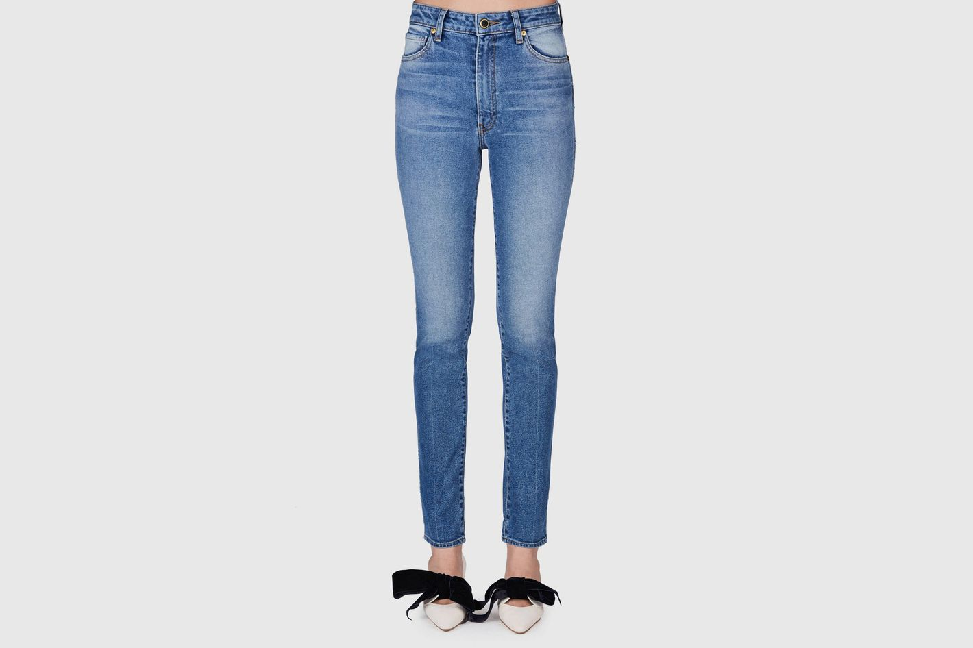 Khaite Vanessa High Rise Straight Jean