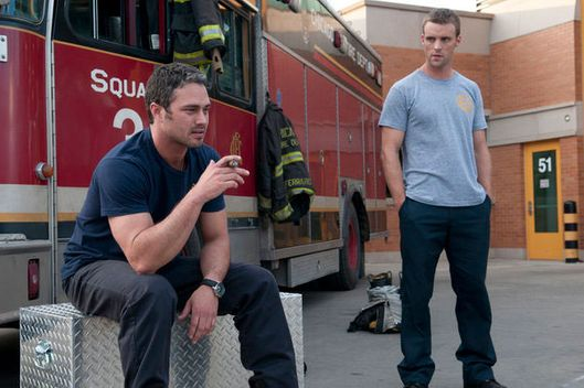 "CHICAGO FIRE -- ""Pilot"" -- Pictured: (l-r) Taylor Kinney as Kelly Severide, Jesse Spencer as Matthew Casey."