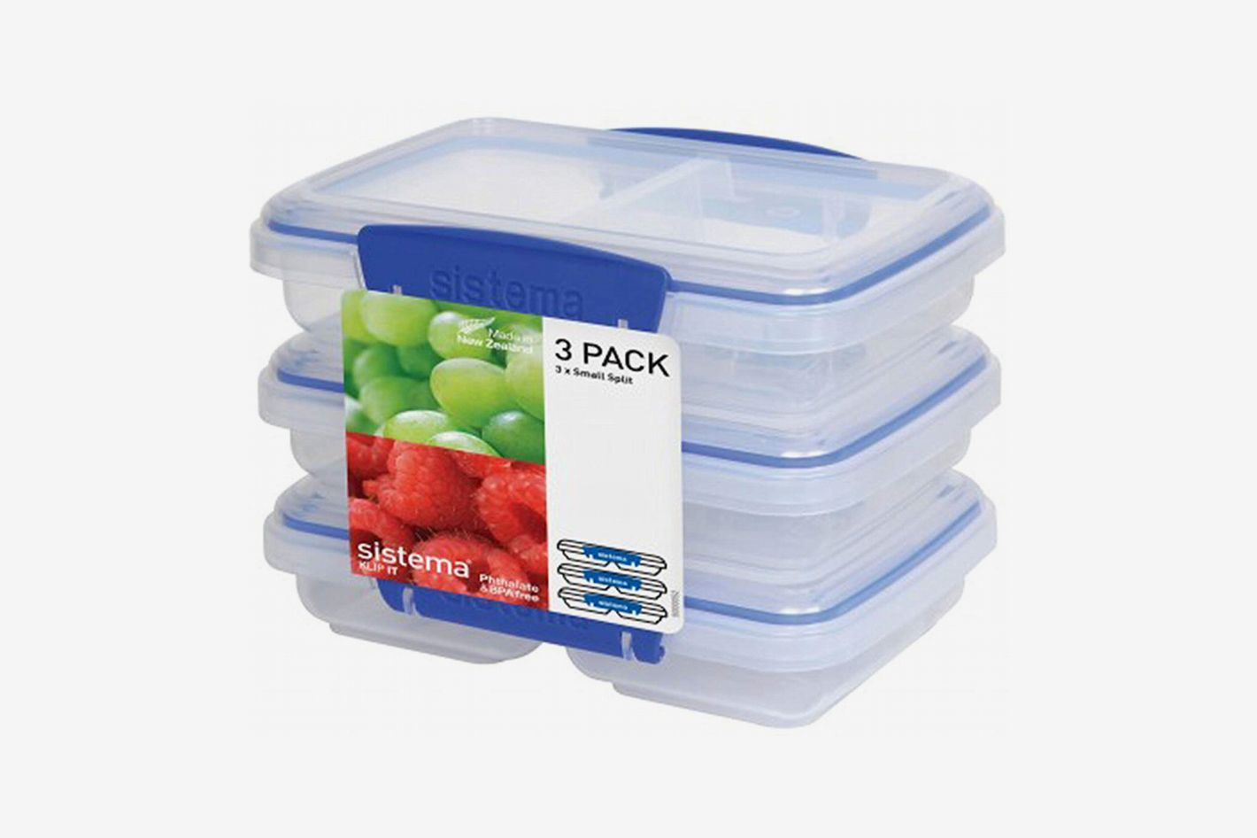 Sistema KLIP IT Rectangular Collection Split Food Storage Container