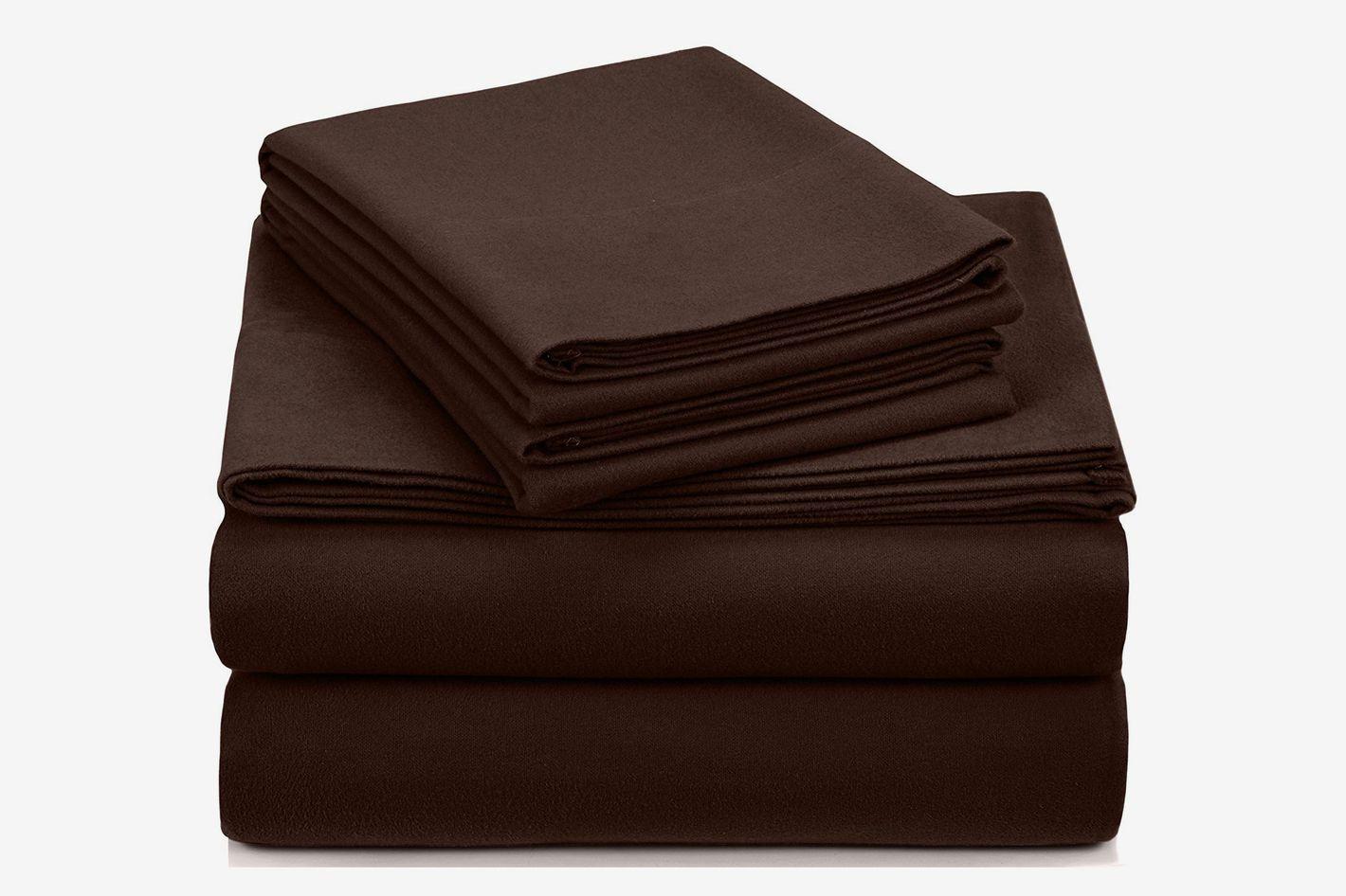 Pinzon Signature 190-Gram Cotton Heavyweight Velvet Flannel Sheet Set (Queen)