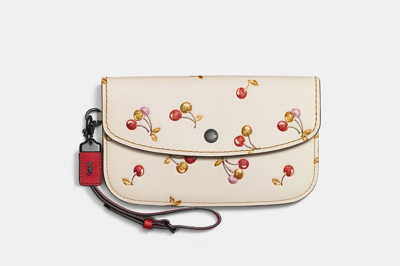 Clutch With Cherry Print