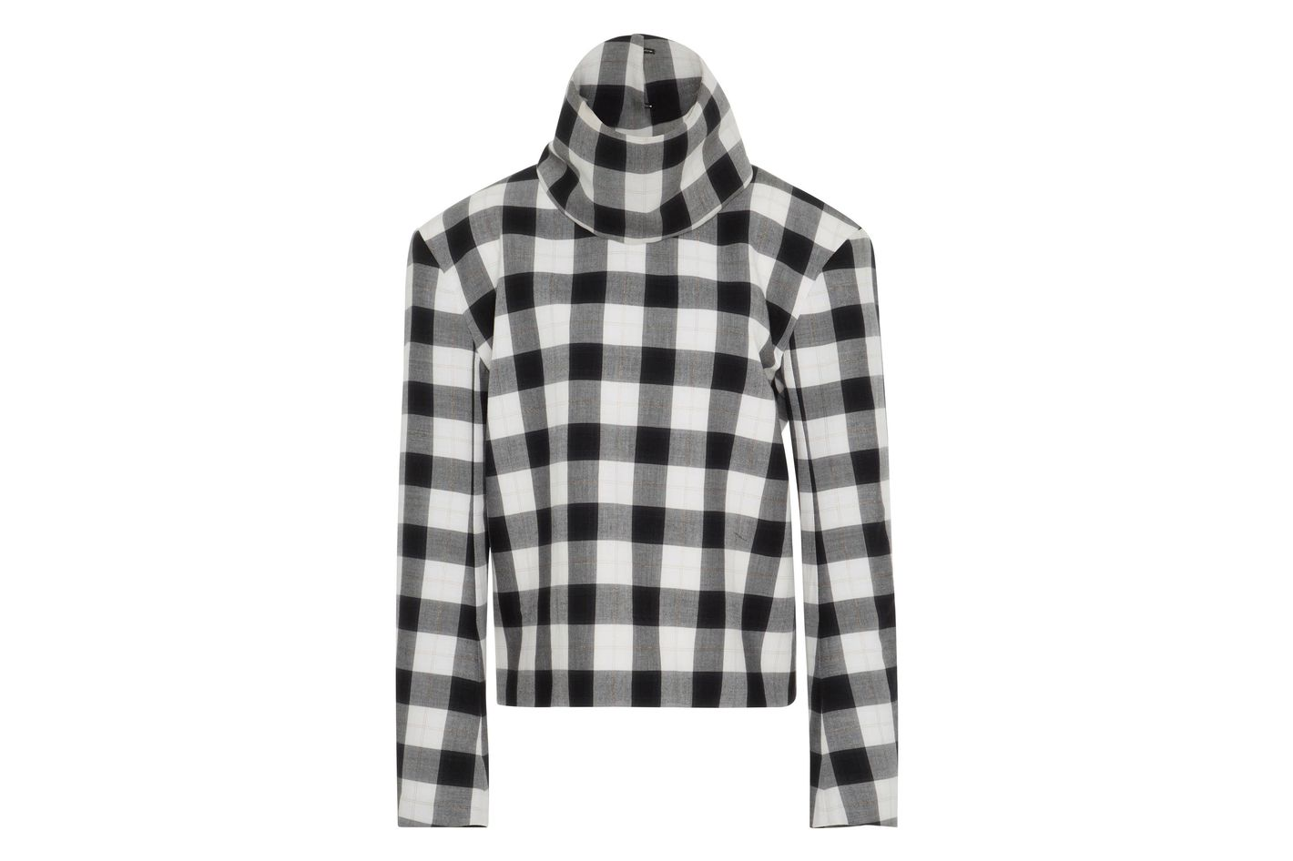 Tibi Gingham Turtleneck
