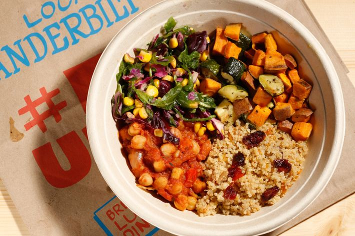 Two Tablespoons' Mediterranean lunch bowl.
