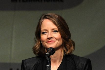"Actress Jodie Foster speaks during Sony's ""Elysium"" panel during Comic-Con International 2012 at San Diego Convention Center on July 13, 2012 in San Diego, California."