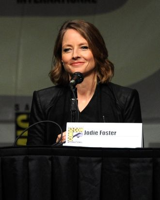 Actress Jodie Foster speaks during Sony's