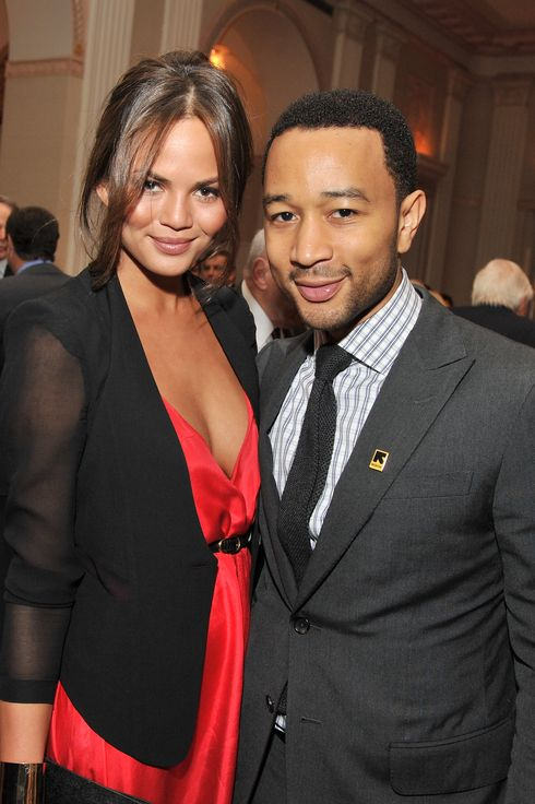 NEW YORK, NY - NOVEMBER 09: Model Chrissy Teigen and John Legend