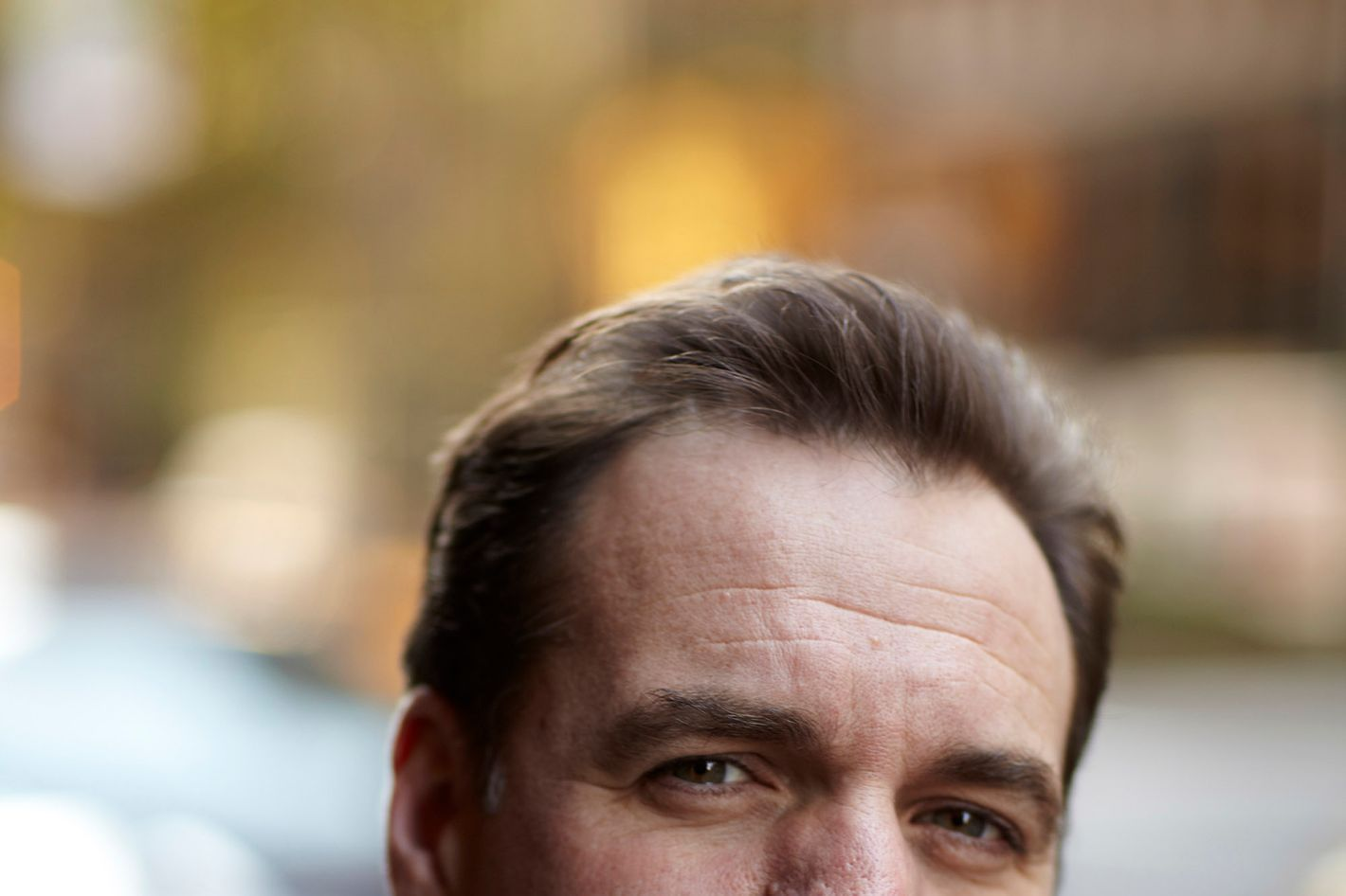 Niall Ferguson poses outside the Waldor Astoria on November 4, 2011 in New York City.