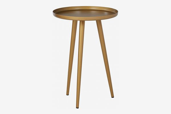 Rivet Mid-Century Modern Round Metal Side End Table
