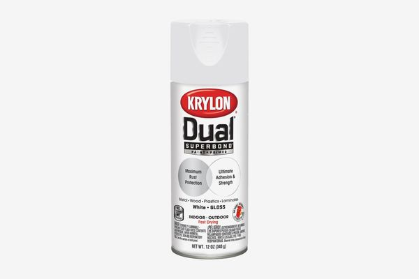 Krylon K08800007 'Dual' Superbond Paint and Primer, Gloss White, 12 Ounce