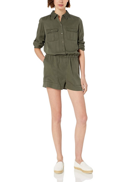 Daily Ritual Tencel Long-Sleeve Utility Romper