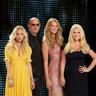 FASHION STAR -- Season: 1 -- Pictured: (l-r) Nicole Richie, John Varvatos, Elle Macpherson, Jessica Simpson -- Photo by: John Russo/NBC