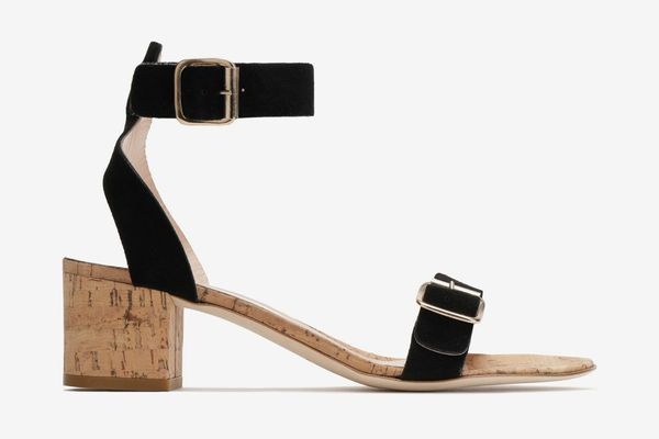 ATP Atelier buckled suede-and-cork sandals