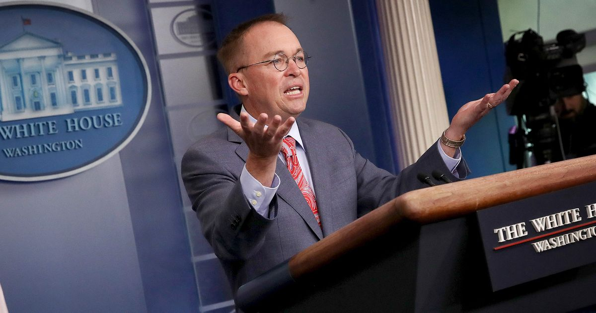 'We Do That All the Time, Get Over It,' Mulvaney Boasts About Ukraine Plot