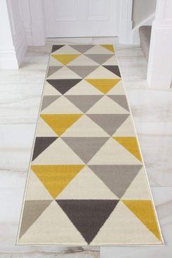 Milan Harlequin Geometric-Triangles Rug