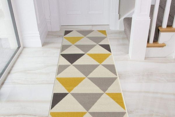 Milan Harlequin Geometric-Triangles Rug
