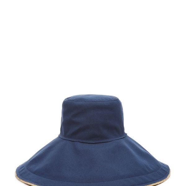 Lola Hats Single Take Denim And Straw Hat