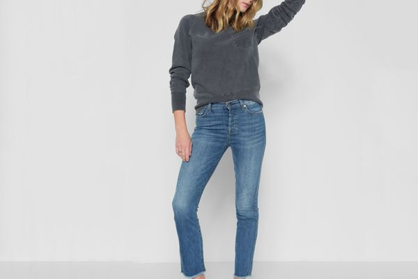 7 for All Mankind Edie With Raw Hem in Fillmore
