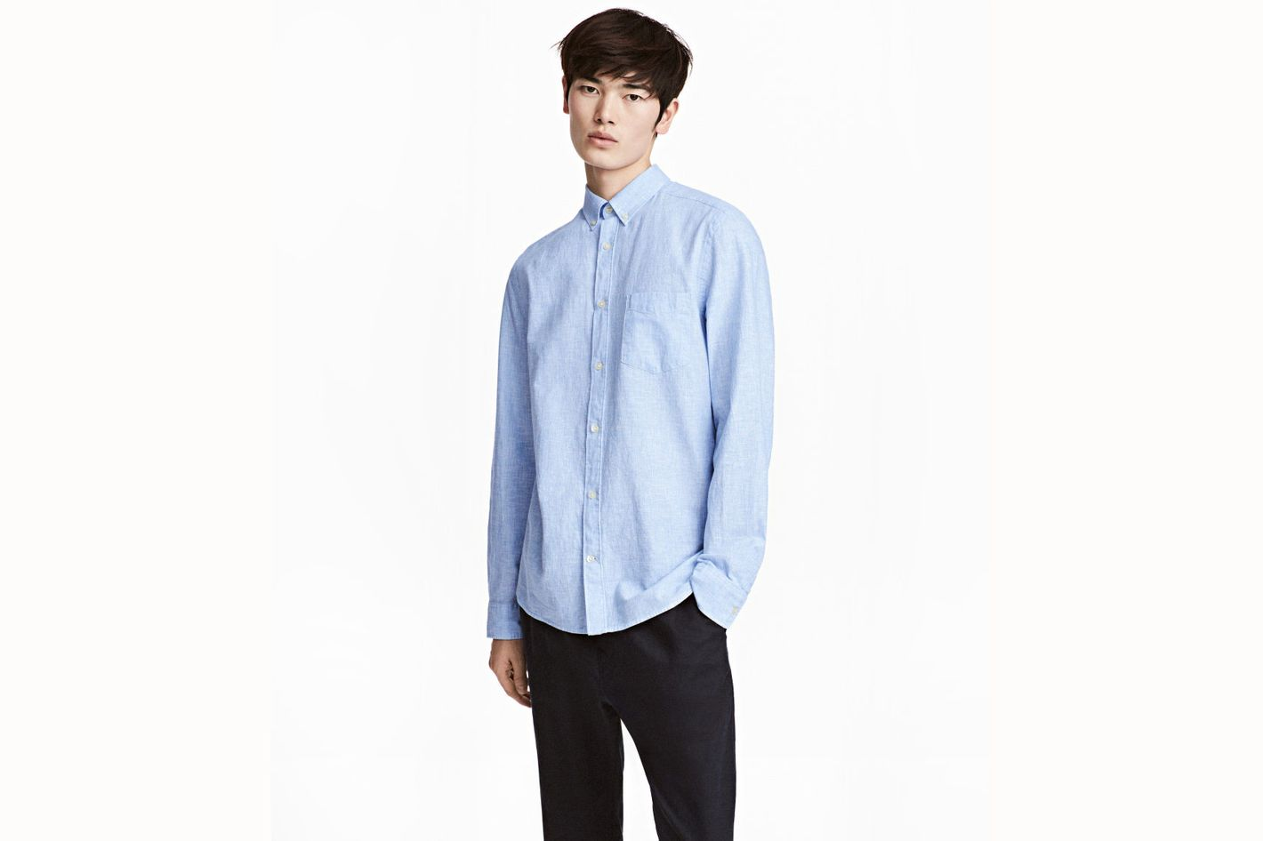 Linen-Blend Shirt