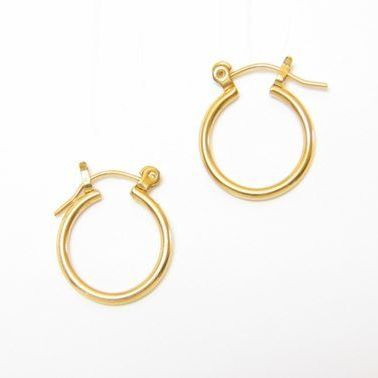 Sensitively Yours Gold Small Euro Clip Hoop Earrings