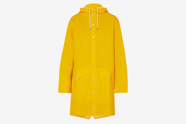 Rains Hooded Matte-PU Raincoat