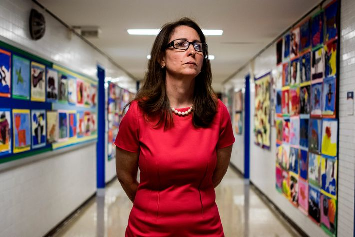 Eva Moskowitz of Success Academy Charter Schools at a Harlem location in June. (Photo by Benjamin Lowy/Getty Images)