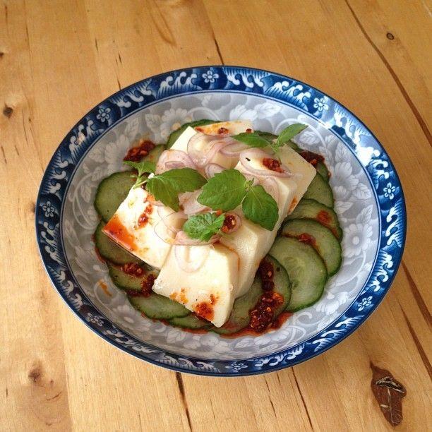 The house-made chickpea tofu.