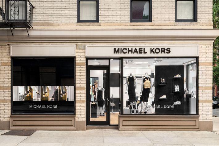 Michael Kors's revamped Bleecker Street store.
